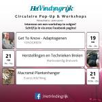 Workshops in onze circulaire pop-up